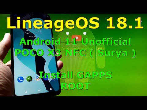 LineageOS 18.1 Unofficial for Poco X3 NFC (Surya) Android 11