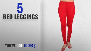Top 10 Red Leggings 2018 MrsPerfect Women 39 s Cotton Leggings Red