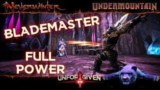 Neverwinter Mod 16 - Blademaster Full Power Augment Companion Example Run Unforgiven Barbarian 1080p