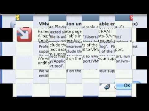 fix vmware player unrecoverable error vmx exception