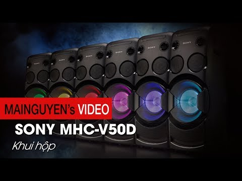 Đập thùng Sony MHC-V50D - Công suất lớn, tính năng hát karaoke trực tiếp - www.mainguyen.vn