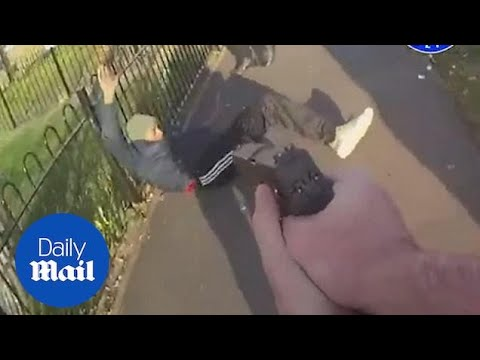 Dramatic Moment Armed Police Tackle Gang With Knives And SHOTGUN