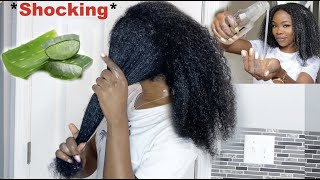 I left ALOE VERA in my hair for 24 hours and this happened *SHOCKING * Aloe vera for hair growth