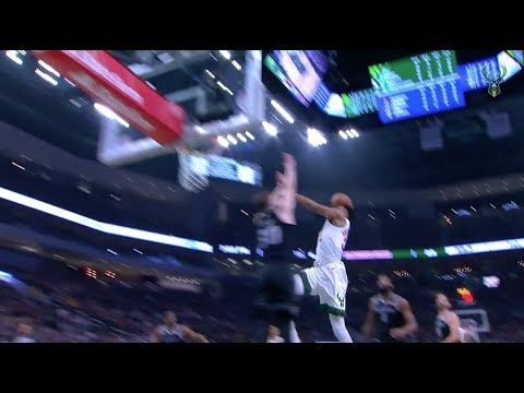 Watch Giannis Antetokounmpo put Jon Leuer on a poster