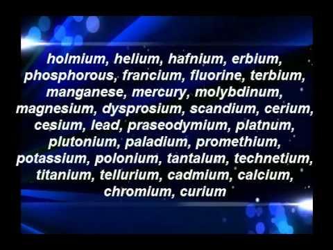 The Element Song - Tom Lehrer