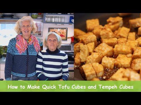 Tofu and Tempeh Tutorial - How to Make Quick Tofu Cubes and Tempeh Cubes