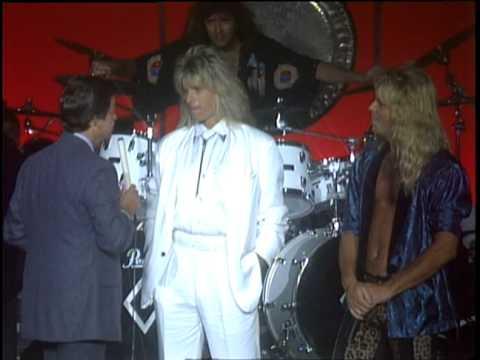 Dick Clark Interviews Giuffria - American Bandstand 1986