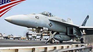 USS Dwight D. Eisenhower Aircraft Launch & Land in Persian Gulf - ペルシャ湾に展開する米海軍空母アイゼンハワーの艦載機離着艦