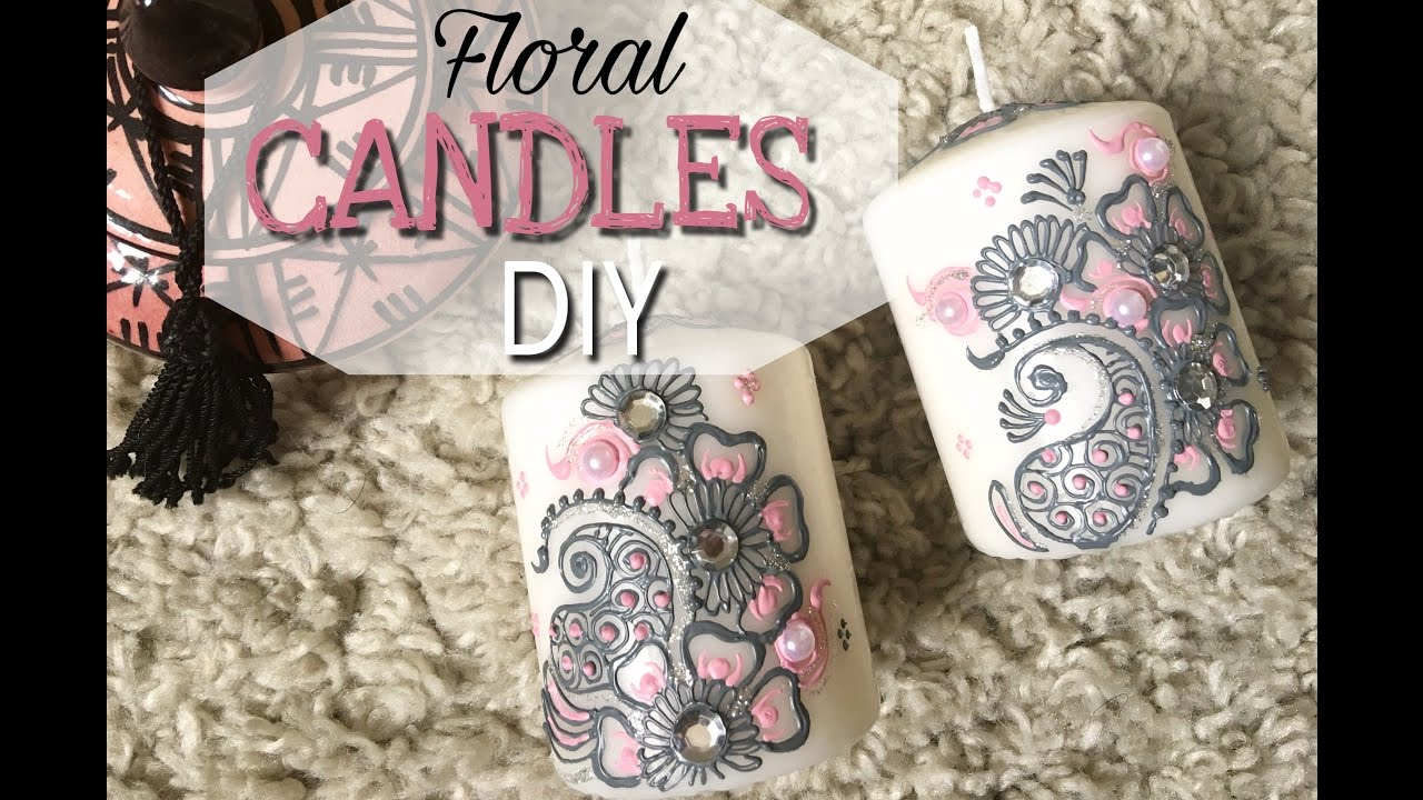 Préférence Floral henna candles. Bougies henné DIY - YouTube MR04