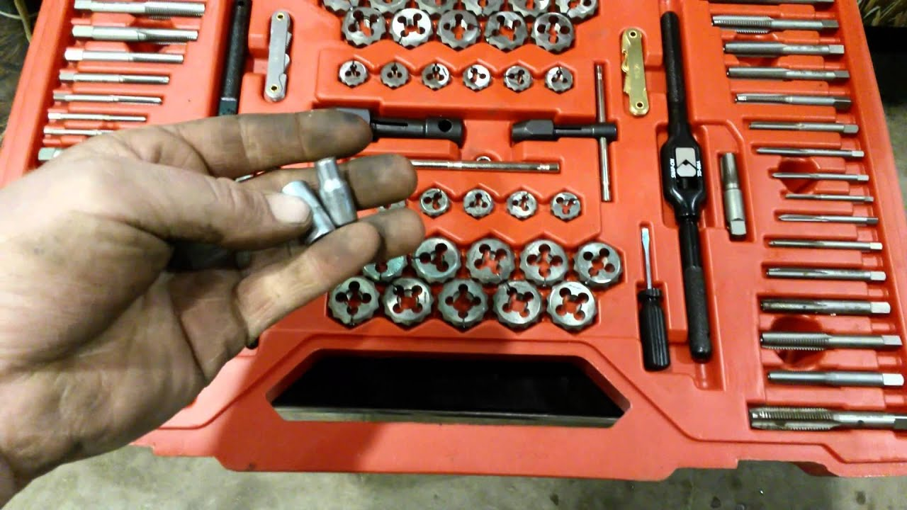 Snap on tap and die set tool talk youtube