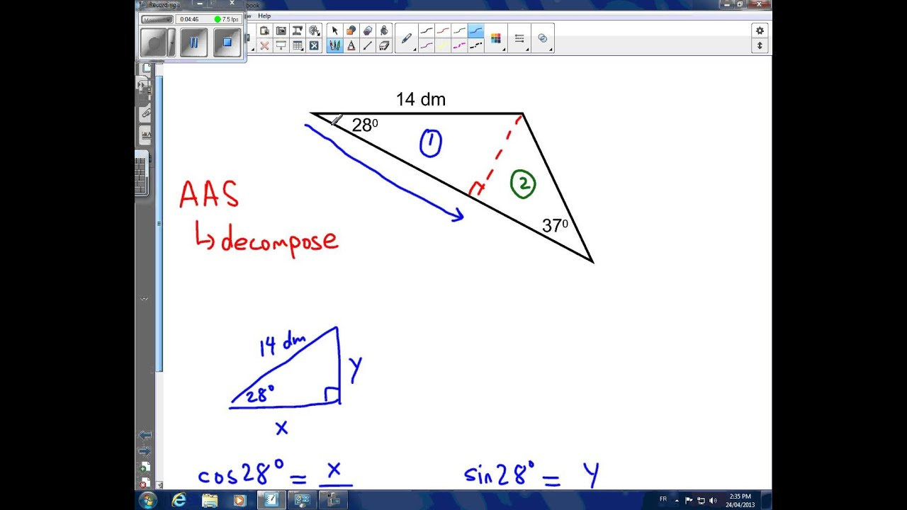 Area Of A Triangle Using Trigonometry