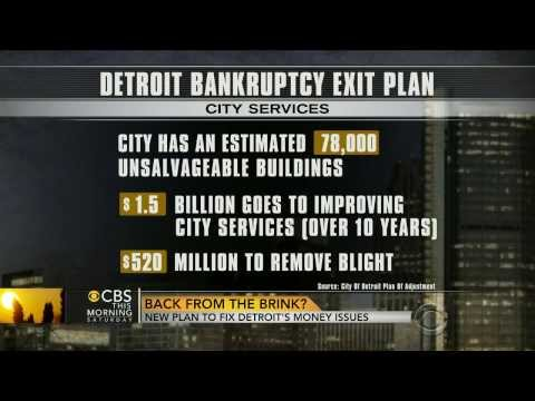Detroit Bankruptcy Plan To Largely Repay Unions While Slashing Bondholders