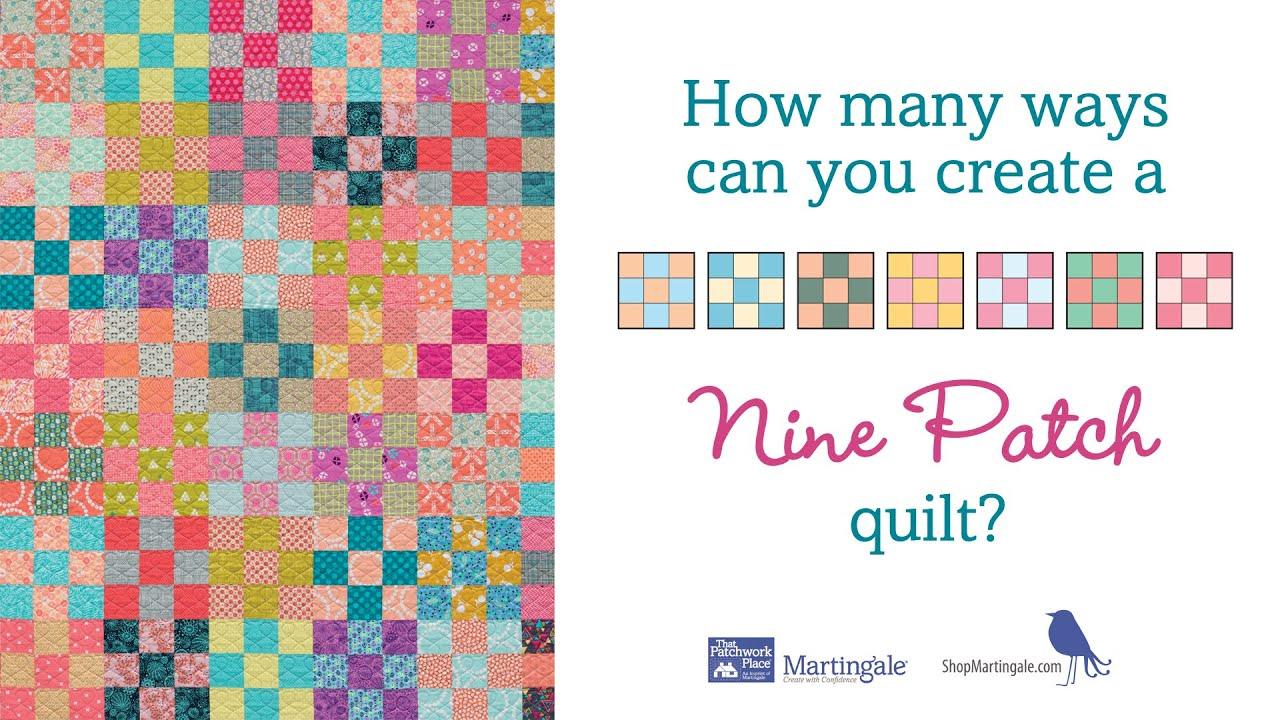 16 nine patch quiltblock variations