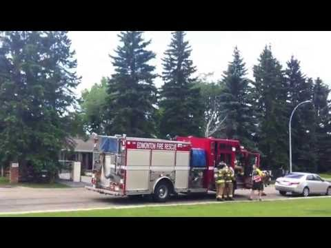Edmonton firefighters at my school