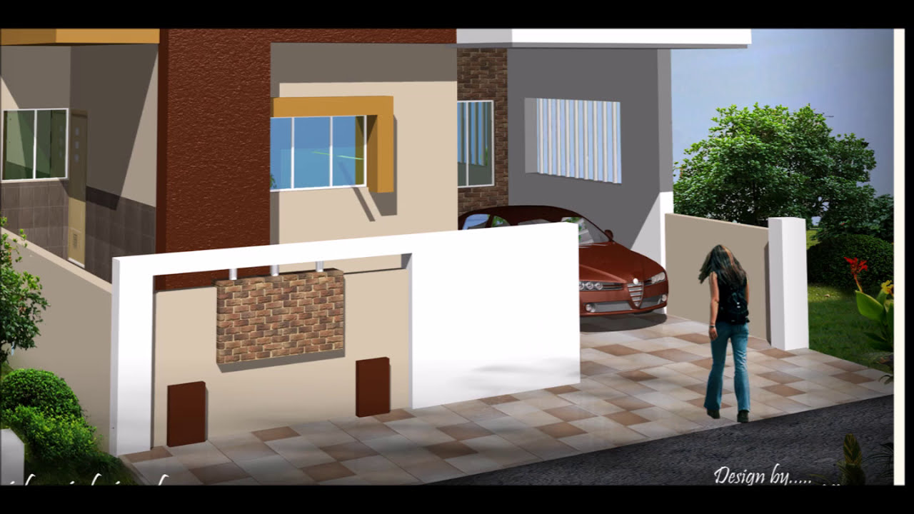compound wall designs - YouTube