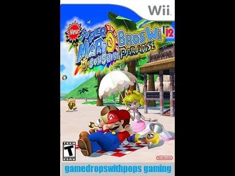 New Super Mario Bros Wii 12 Sunshine Paradise On Wii U Pt 10 Youtube