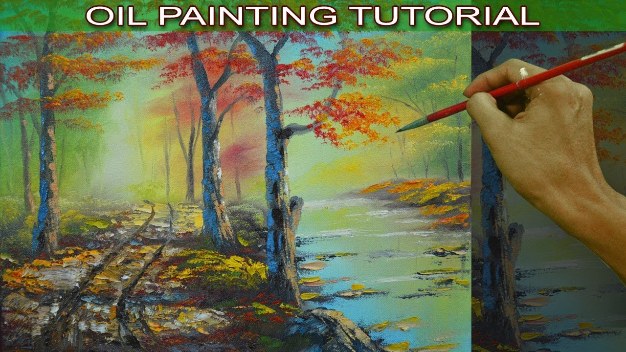 Oil Landscape Painting Tutorial With Palette Knife Autumn