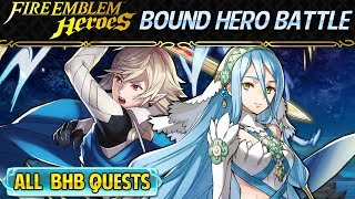 Fire Emblem Heroes - Corrin and Azura: Bound Hero Battle INFERNAL+ALL Quests No Skill Inheritance