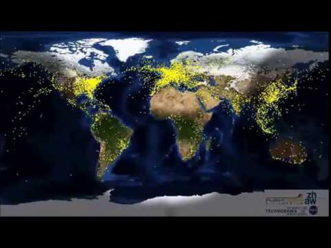 72 Hours of Global Air Traffic in 13 seconds