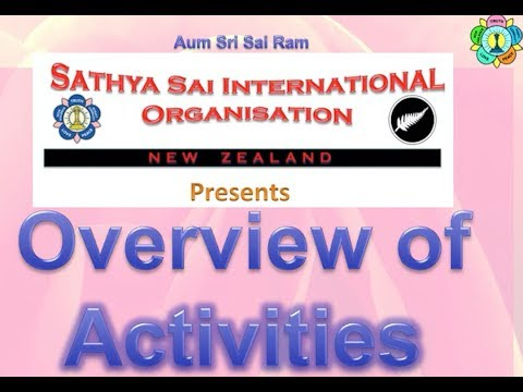 Activities by Sathya Sai International Organisation of New Zealand