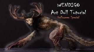 Halloween Special Wendigo Monster Art Doll Tutorial