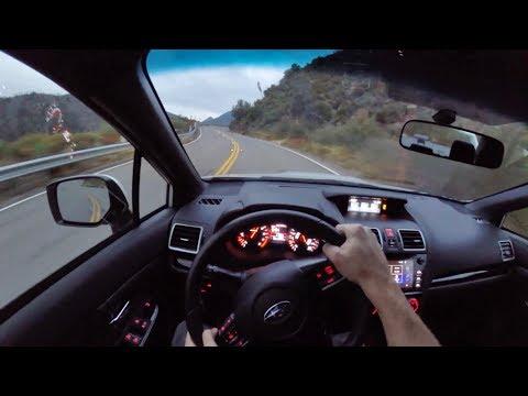 2018 Subaru WRX STI - POV Canyon Sunset Drive (Binaural Audio)