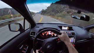 2018 Subaru WRX STI POV Canyon Sunset Drive Binaural Audio