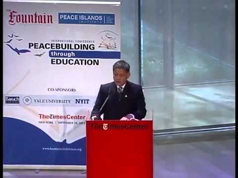 Armin Altamirano Secretary of Education, The Philippines gives examples of Peacebuilding in schools