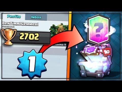 LEVEL 1 NOOB GETS 2700+ TROPHIES!? | Clash Royale | LEGENDARY SUPER MAGICAL CHEST HUNT #9