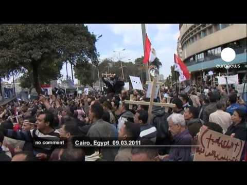 Egypt Coptic Christians protest in Cairo - no comment