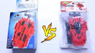 DUAL THREAT LAUNCHER vs LR STRING LAUNCHER | Hasbro vs Takara Tomy - Beyblade Burst Evolution/God