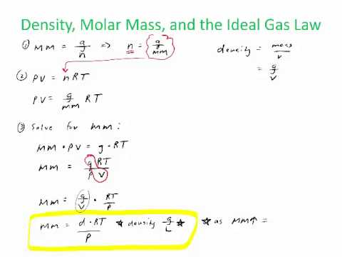 Ideal Gas Formula With Density
