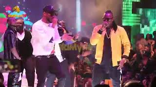 Davido Reunites Donjazzy, Dbanj & Mohit Crew As they All Perform At His Show