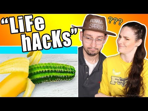 "Testing ""20 Banana Life Hacks"" (very appeeling)"