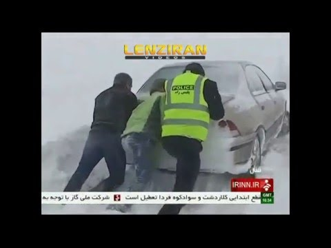 Snow and Typhoon  covered almost all Iran
