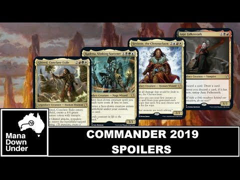 Commander 2019 Spoilers - Head Commander's and Themes [MTG