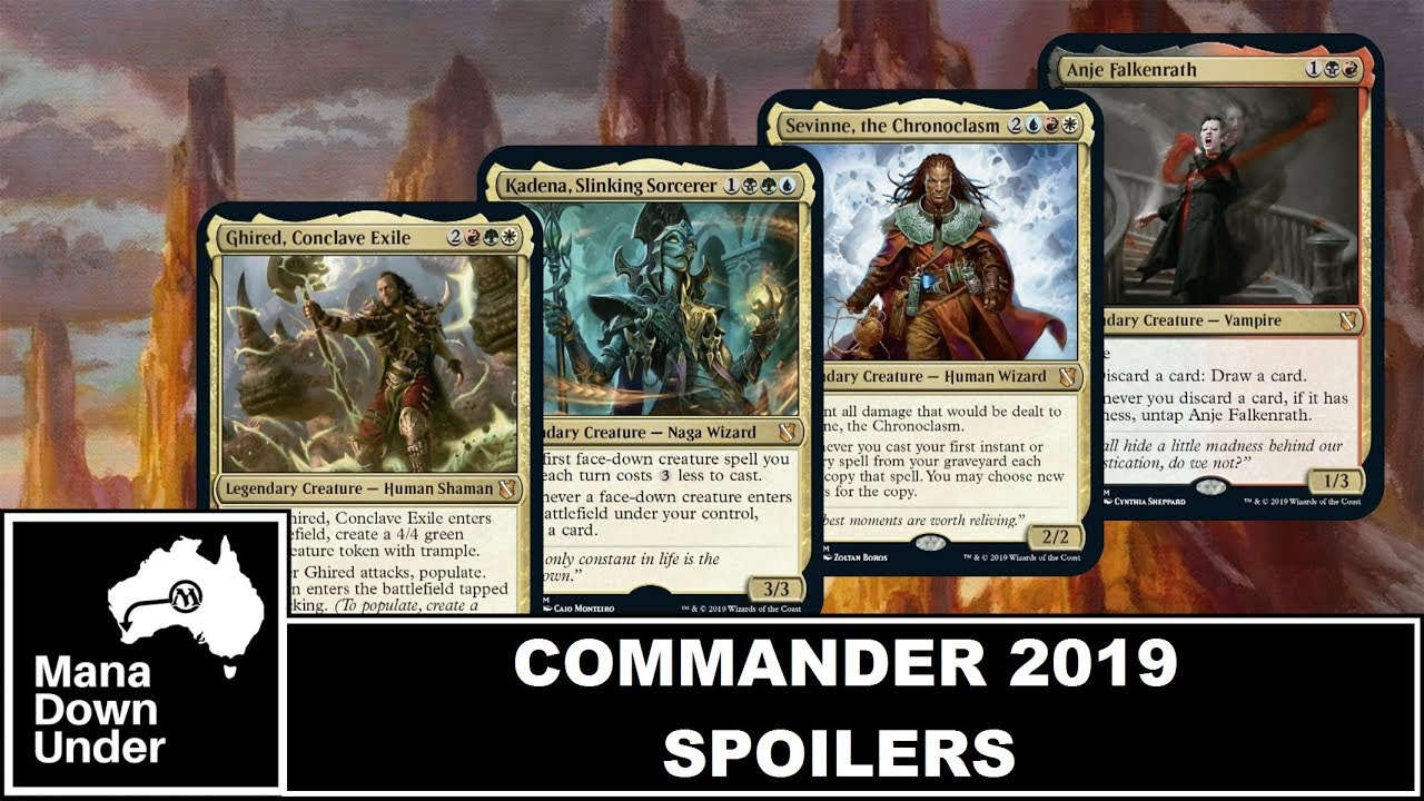 Commander 2019 Spoilers - Head Commander's and Themes [MTG / Magic: The  Gathering]