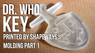 Dr. Who Tardis Key 3D Modeling and Shapeways [Molding Making PT. 1]