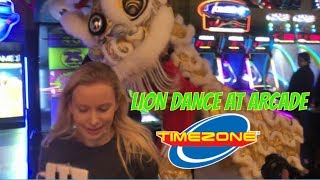 OMG TRADITIONAL LION DANCE PLAYS ARCADE GAMES!!!! || GRAND OPENING LAUNCH TIMEZONE ARCADE HAYMARKET