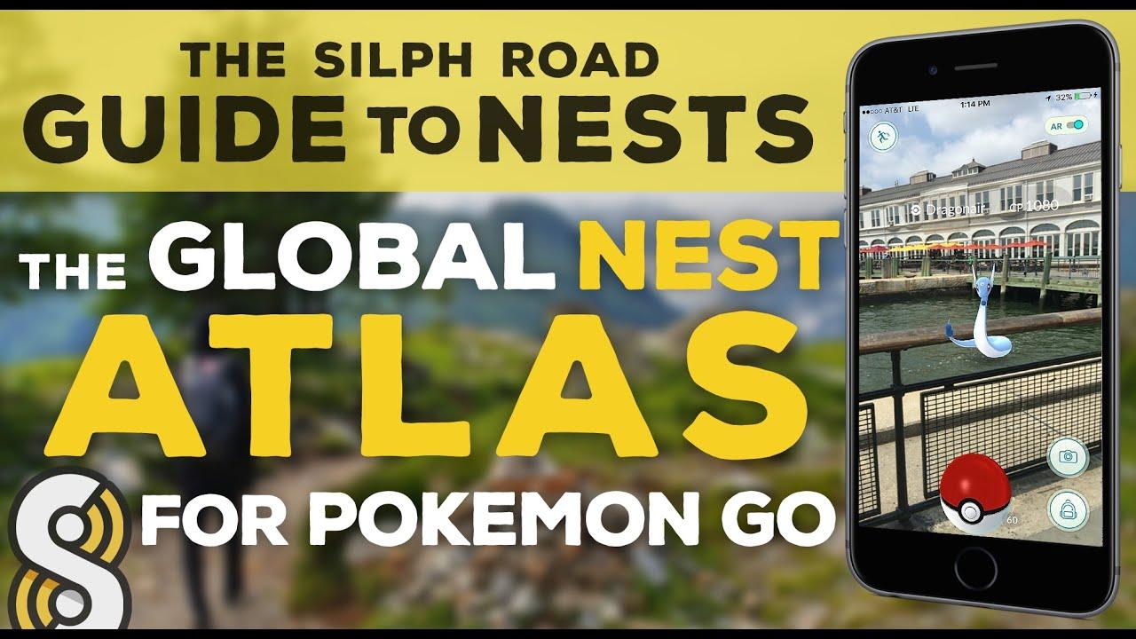 pokemon go nests the silph road nest atlas youtube
