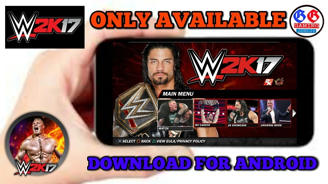 ||New||Download wwe wr3d mod android||commentry+new superstars+new  arena||(2018) By Gaming Guruji