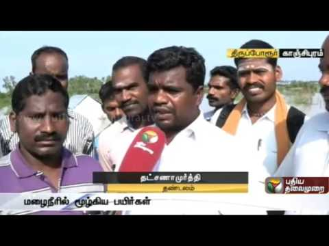 Thiruporur Thandalam lake breaches, 600 acre agricultural land affected