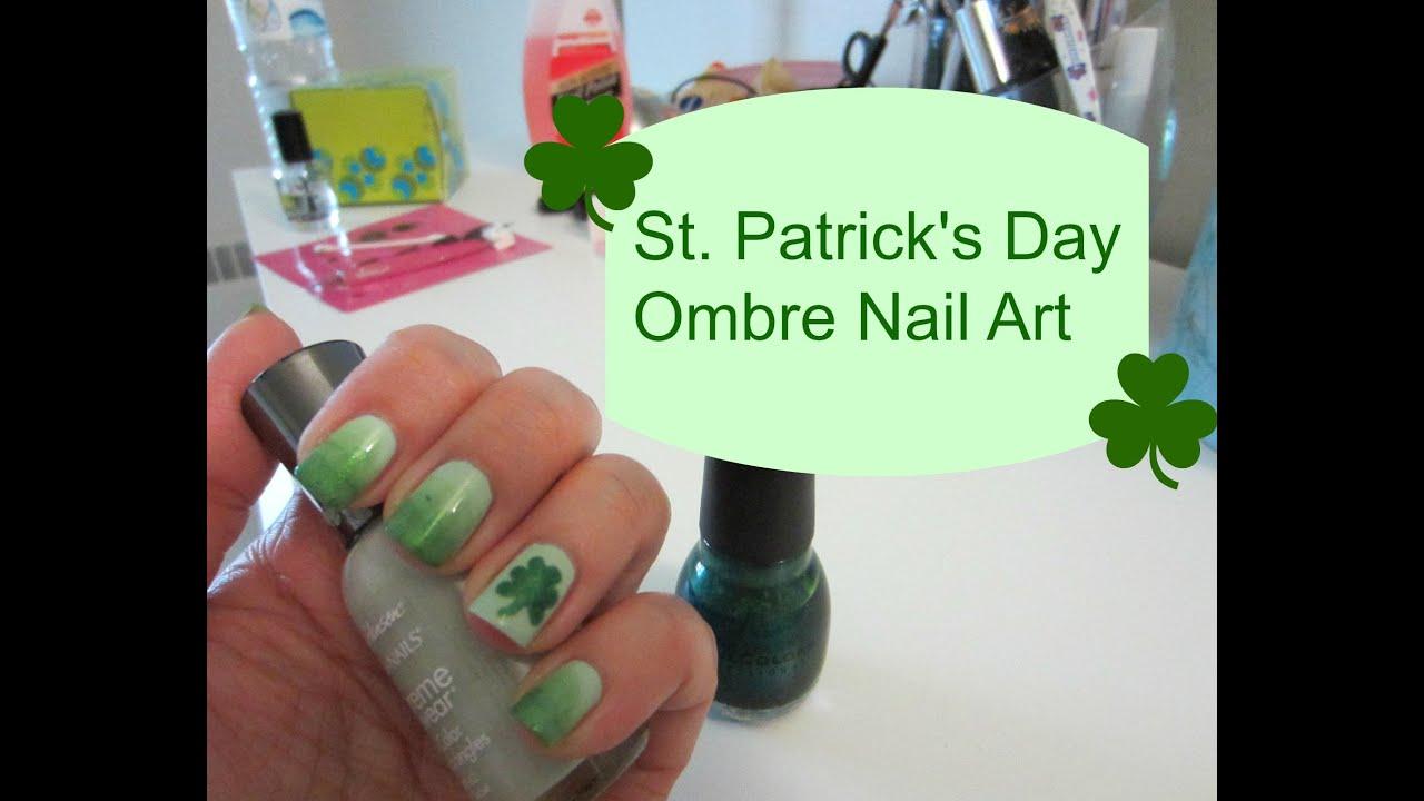 st patrick u0027s day ombre nail art youtube
