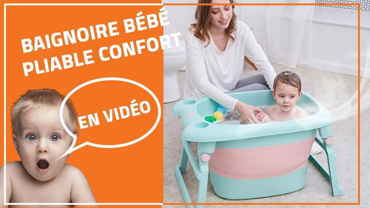 Baignoire Pliable Pour Bebe Bain Confortable Youtube