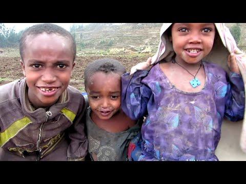 Naked feet village kids on the way to Asheten Mariam Monastery, Lalibela thumbnail