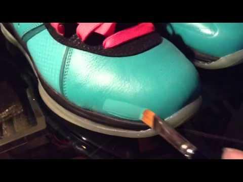 4c41d4d9aad7 Lebron 8 South Beach Pre Heat Paint Scuff Repair Fix - YouTube
