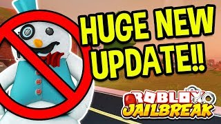 ROBLOX JAILBREAK HUGE NEW UPDATE! SNOWMAN GLITCH REMOVED, BINOCULARS, NEW MAP CHANGES!