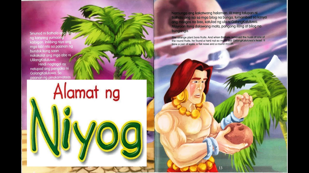 Alamat Ng Niyog Legend Of The Coconut Tree Children S Book In Tagalog With English Tagalog Subs Youtube