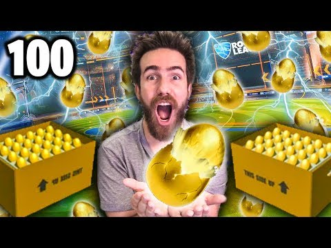 100 NEW GOLDEN EGG ROCKET LEAGUE CRATE OPENING!