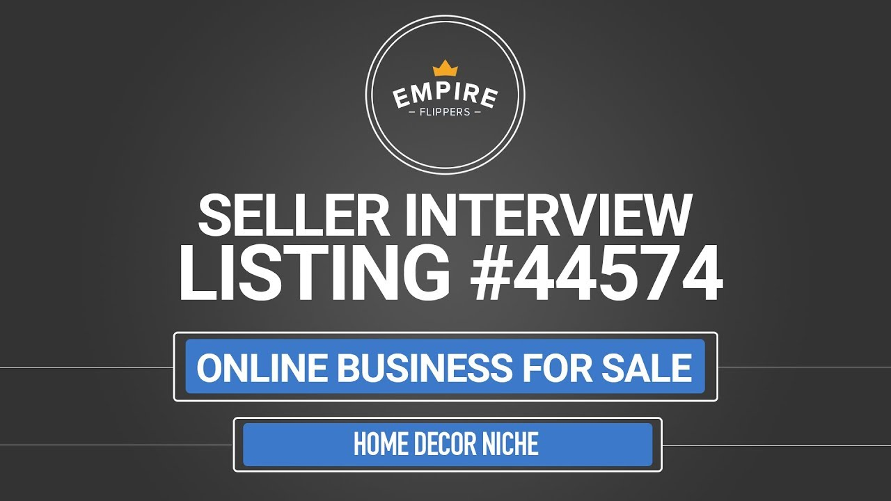 Online Business For Sale 2 9k Month In The Home Decor Niche Youtube
